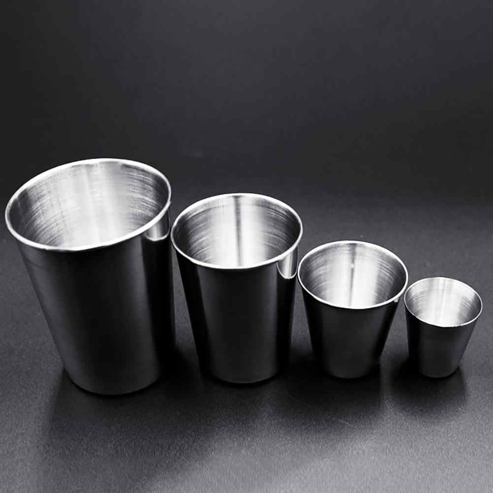 دائم 30/70/180/320 مللي الفولاذ المقاوم للصدأ كوب للشرب القهوة البيرة الشاي التخييم مج مياه