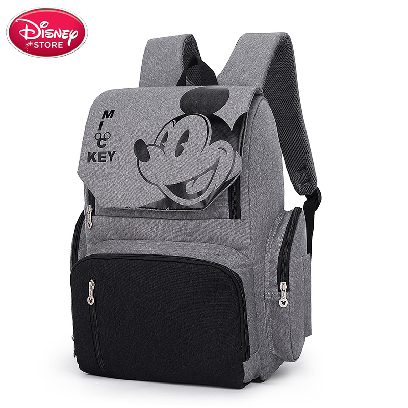 Disney Bags Mummy Diaper Backpack Minnie Mickey Mouse Bag Stroller Capacity Travel Feeding Handbag For Baby Care Disney Mom Bag