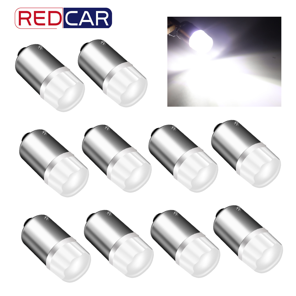10pcs BA9S LED Bulb T4W H6W LED Car light bulb Car Reverse Lights Auto Parking License Lamp Interior 2835SMD Car LED Bulb DC 12V