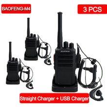 3 шт/лот baofeng bf m4 рация uhf 400 470 МГц 16 канальный портативный