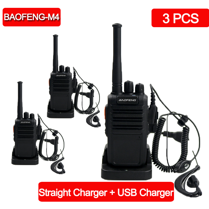 3pcs/lot Baofeng BF-M4 Walkie-talkie UHF 400-470MHz 16Channel Portable Two Way Radio Transceiver Radio Station Walkie Talkies