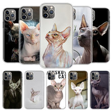 Sphynx Cat Phone Case For iPhone 11 Pro 7 6 X 8 6S Plus XS MAX + XR 5S Eleven Art TPU Cover Coque Capa Shell(China)