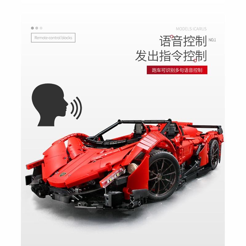13079 poison RC Car MOC 10559 Veneno Roadster Motor Power Functions Fit App for legoing Technic Building Blocks Bricks Toys Gift 2