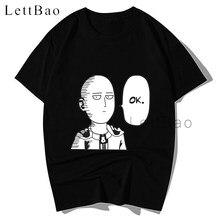 Um soco homem saitama ok t camisa camisa anime dos desenhos animados t camisa masculina unissex nova moda tshirt solto tamanho superior camisetas gráficas