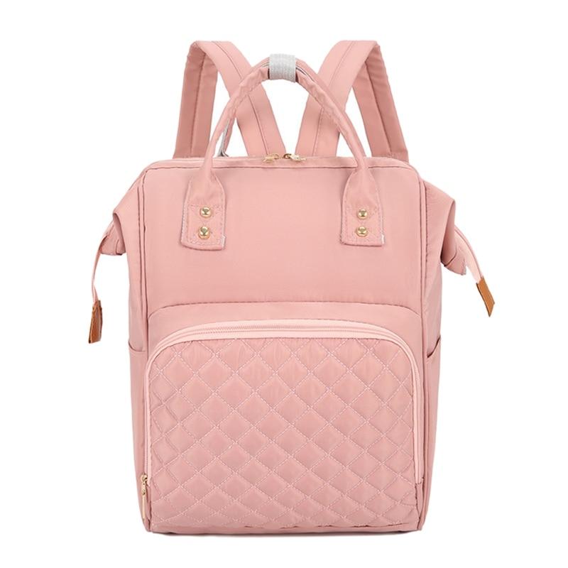 Многофункциональные сумки для мам, модный детский рюкзак, сумка для подгузников, сумка для новорожденных, органайзер для подгузников, переносные рюкзаки для подгузников, сумки для подгузников - Цвет: Pink