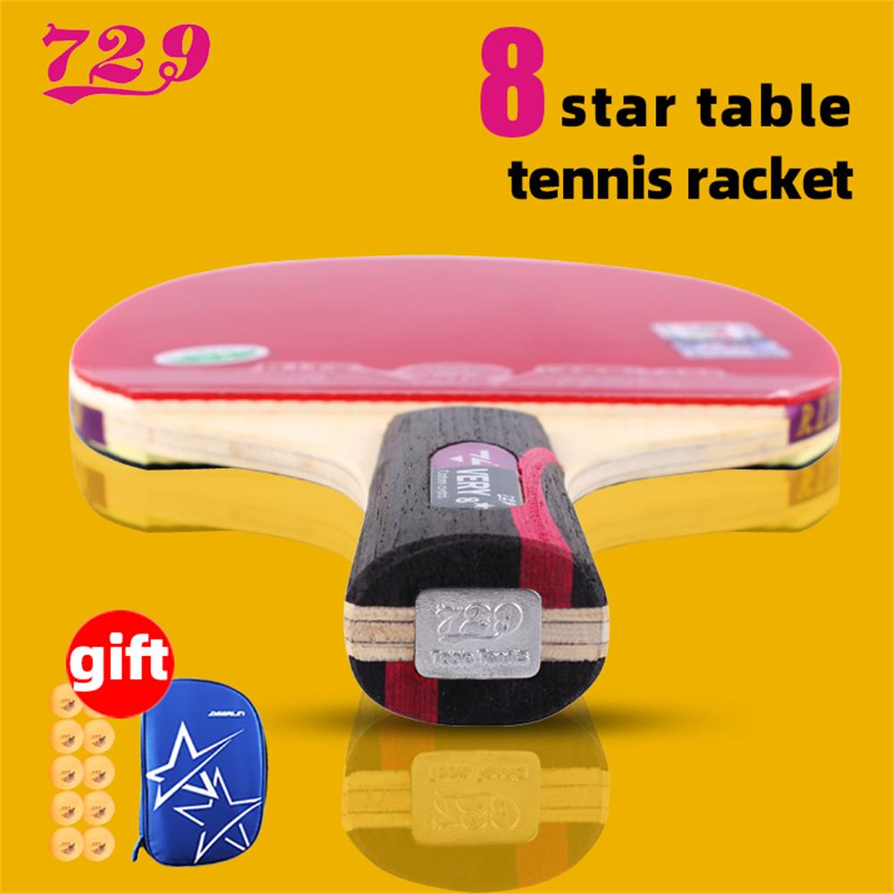 RITC 729 Friendship VERY 6 7 8 Stars Professional Ping Pong Racket Table Tennis With Inverted Rubber For Increased Ball Control