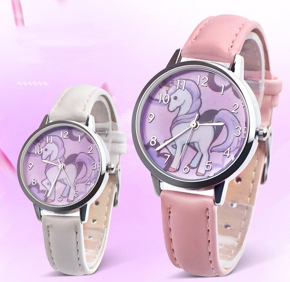 Kids Watches Girls 2019 New Relojes Cartoon Children Watch Princess Watches Fashion Kids Cute Rubber Leather Quartz Wa