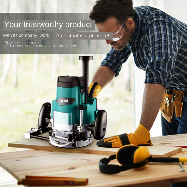 Electric Router Woodworking Trimmer Wood Slot Machine Electric Milling Machine Engraving Machine