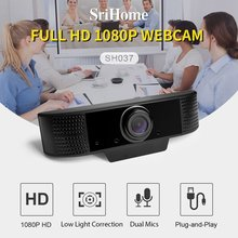Hd Free Drive 1080P Camera With Microphone Driver-Free Webcam Hd Camera Manual Focusing Built-In Microphone new logitech hd webcam c310 camera hd 720p 5mp photos built in mic free bracket