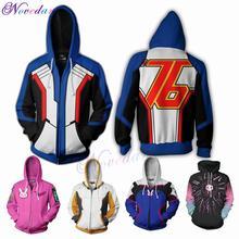 3D Anime Game Overwatches D.VA SOLDIER 76 Jack Morrison Hoodie Sweatshirt Cosplay Costume Women Men Couple Hood Top Clothing
