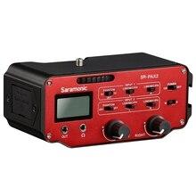 ABKT-Saramonic Sr-Pax2 аудио адаптер смесителя предусилитель два Xlr и два 3,5 мм разъем интерфейс для Dslr камеры микрофон