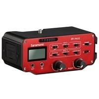 Abkt saramonic Sr Pax2 adaptador misturador de áudio pré amplificador dois xlr e dois 3.5mm jack interface para câmera dslr microfone Pedestal microfone     -