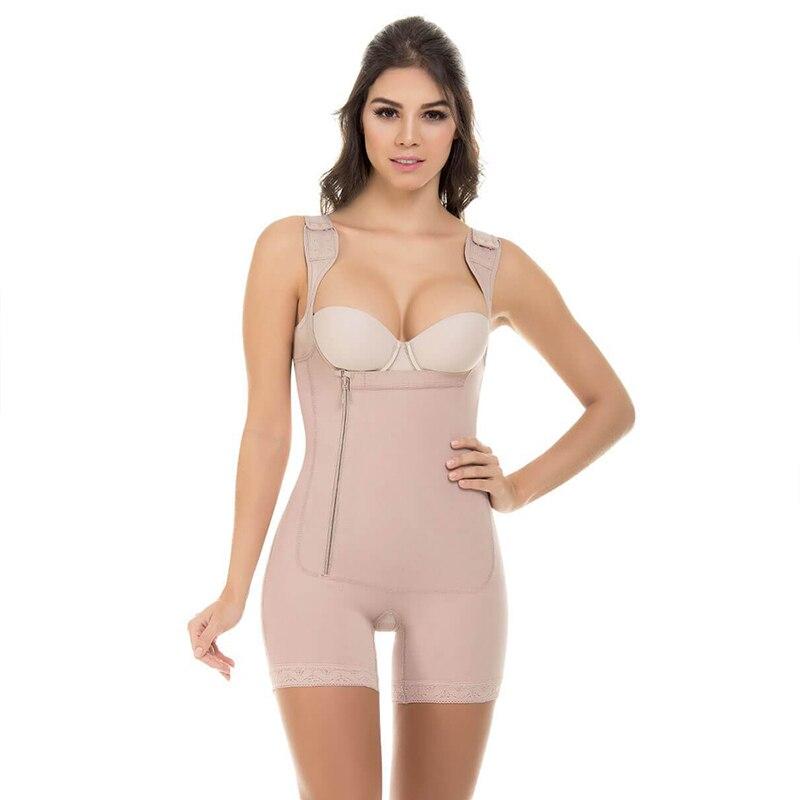 Image 2 - Women Open Bust Slimmer Shapewear Bodysuit Tummy Control Lifter Body Shaper Fajas Colombianas S 6XL 3 Colors Shapers UnderbustControl Panties   -