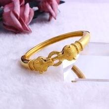Fansheng высоко Квантово браслет «леопард» 24 k массивная желтая