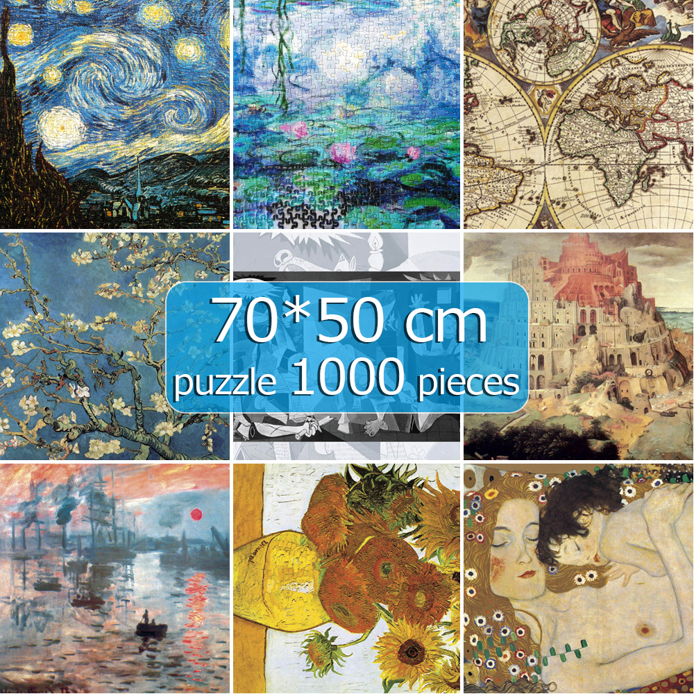 Jigsaw Puzzles Scenery Assembling 1000 Pieces Picture Landscape Puzzles 50*70cm Toys For Adults Children Games Educational Gift