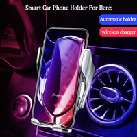 Car phone holder wireless charger for Benz GLA CLA GLC E Class 2016 2019 universal mobile phone holder car air vent holder clip
