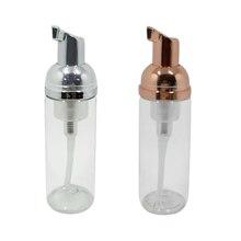 1ps 30ml 60ml Foam Makeup Remover Soft Eyelashes Cleanser Shampoo Foam Bottle white/gold plastic liquid soap foam bottle