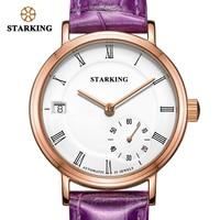 STARKING механические часы для женщин сапфировое стекло водонепроницаемые автоматические самозаводные наручные часы Авто Дата натуральная ко...