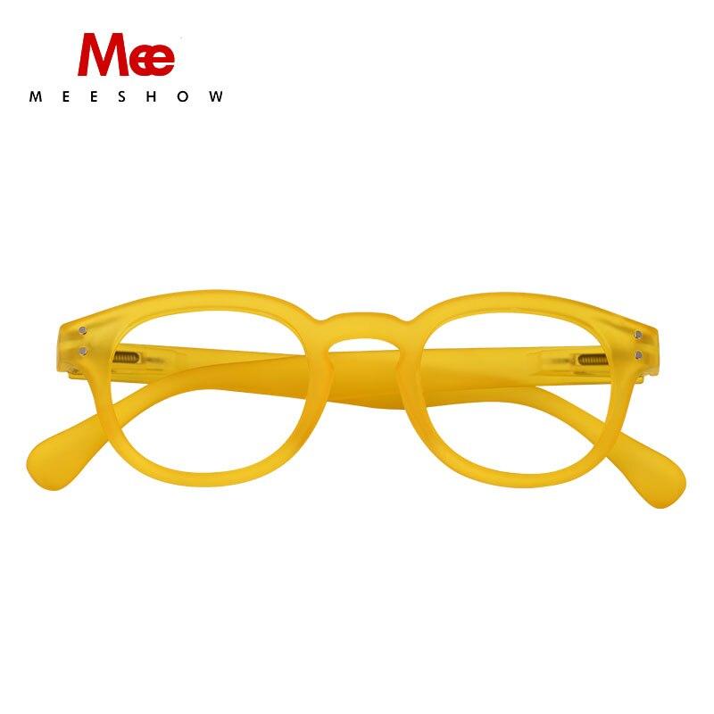 Meeshow Reading Glasses Men Women Glasses Retro Fashion Eyeglasses Computer Protection Glasses Frame Round Men's Presbyopia 1513