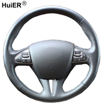 Hand Sewing Car Steering Wheel Cover Volant Funda Volante Stuurhoes For Infiniti Q50 2014 2015 2016 2017 QX50 2015 2016 2017