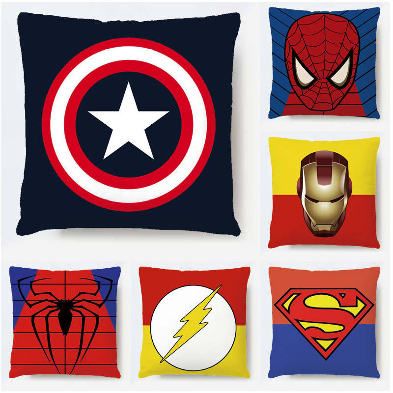 Hot Marvel Avengers Pillow case Thanos Black Panther Captain America Thor Iron Man batman Hulkbuster Hulk Pillow case 45CM