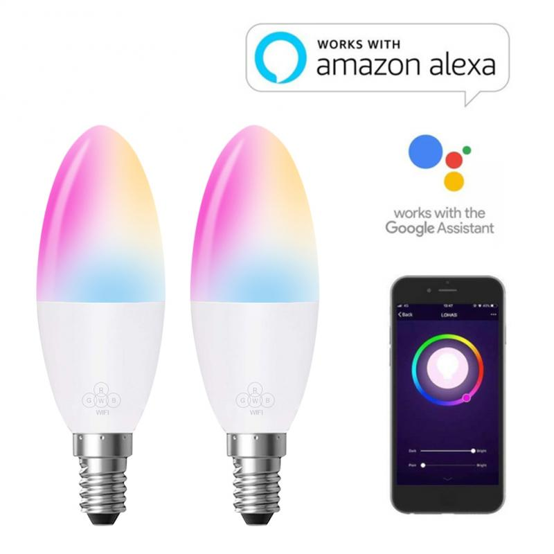 Candle Shape Smart RGB Wifi Light Bulb Home Appliances Living Room