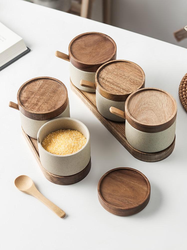 Japanese Retro Spice Jar Three-Piece Eco Kitchen Storage » Planet Green Eco-Friendly Shop