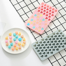 1Pcs 3D Silicone Cake Mould Christmas Gifts Heart Chocolate Molds Jelly Ice 55-Hearts Pudding Bakeware