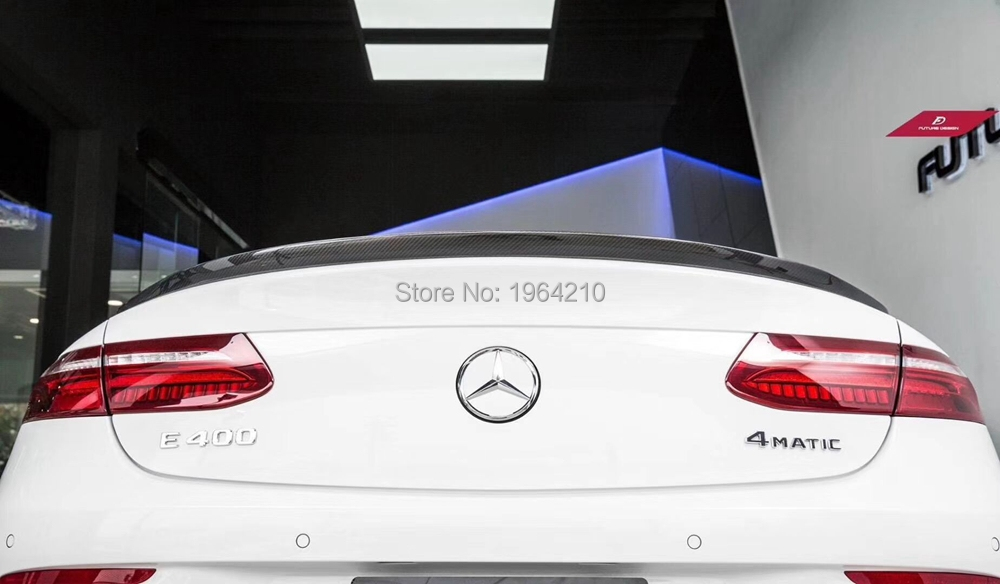 For Mercedes Benz 2017-2019 W238 <font><b>C238</b></font> E250 E400 E500 E550 E Class Carbon Fiber Rear Trunk <font><b>Spoiler</b></font> Tail Boot Lip Wing image