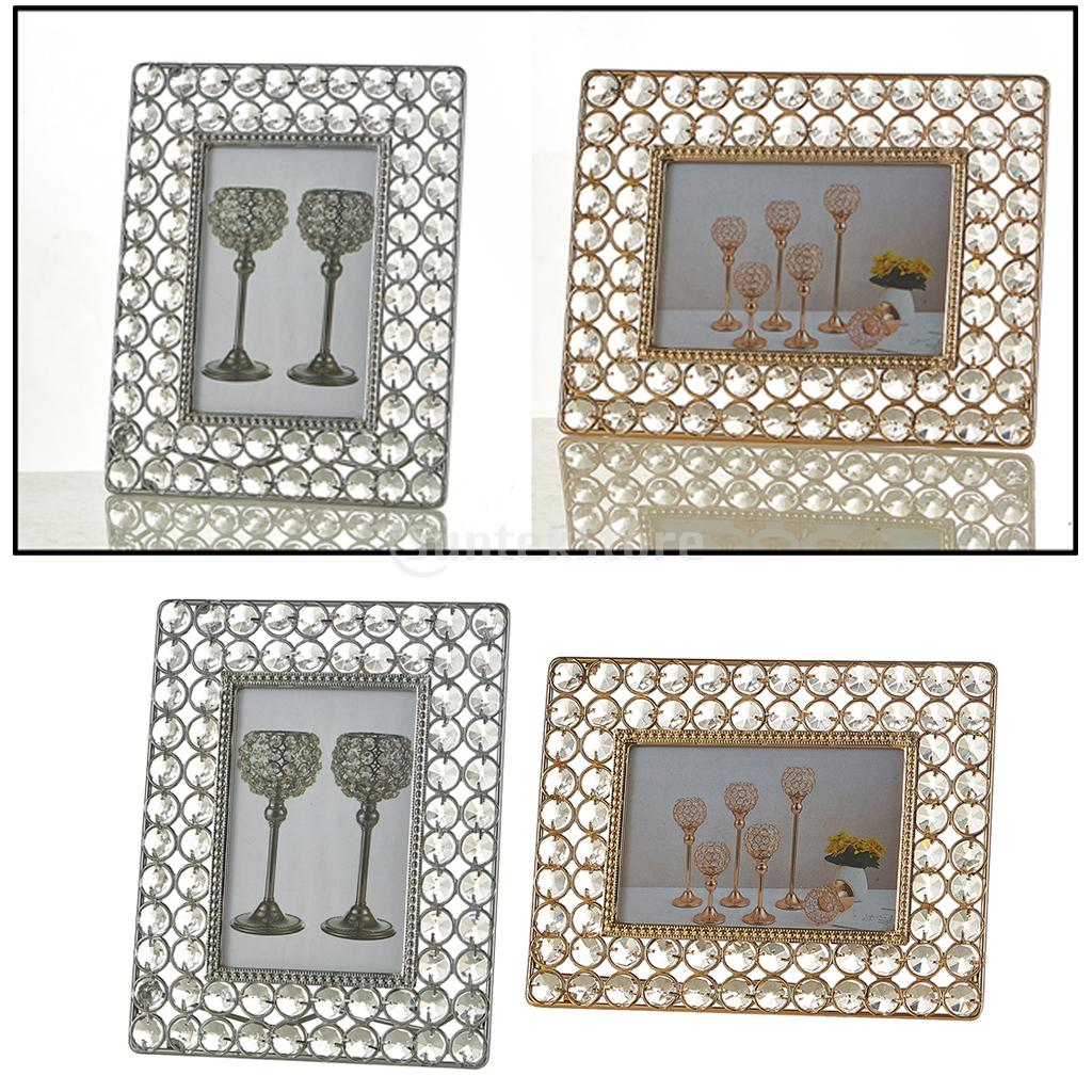Sparkling Crystal Beaded Photo Frame Home Photo Display Living Room Decor