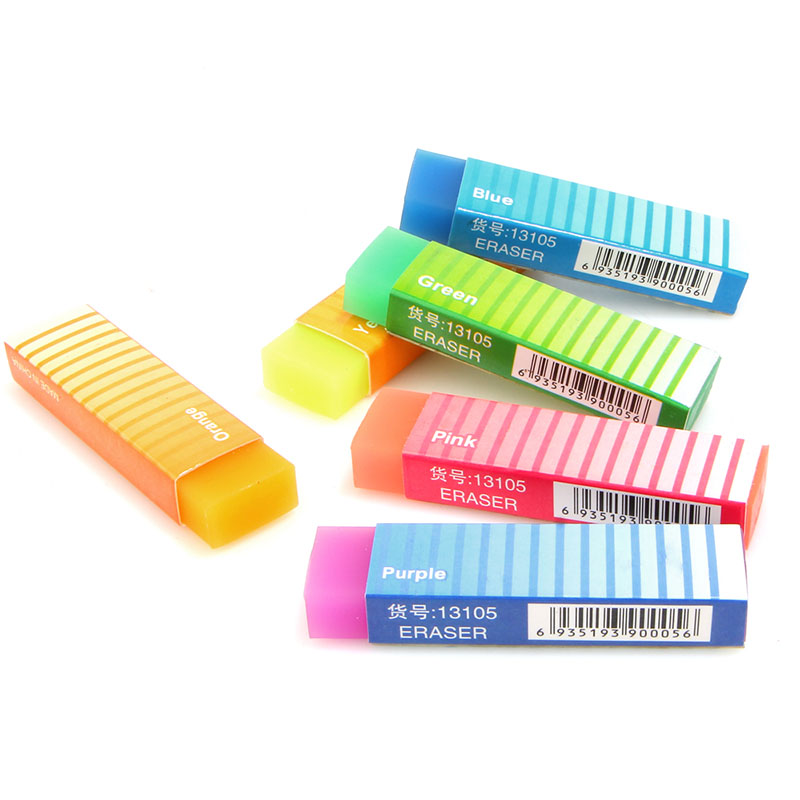 1pc Cute Kawaii Rubber Belt Eraser Creative Jelly Color Child Student Learning Gift Stationery School Office Supplies
