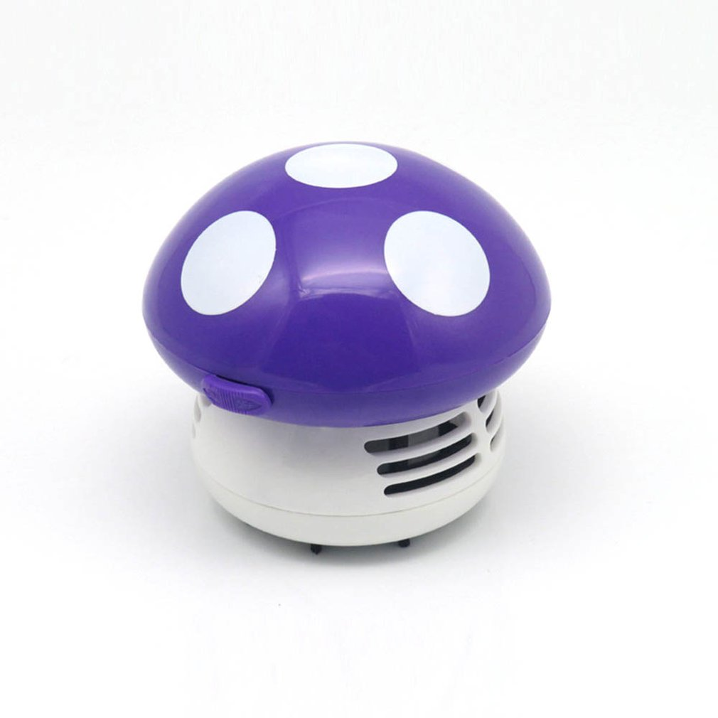 Mini Table Dust Vacuum Cleaner Mushroom Shaped Portable Corner Desk Vacuum Cleaner Mini Cute Vacuum Cleaner Dust Sweeper