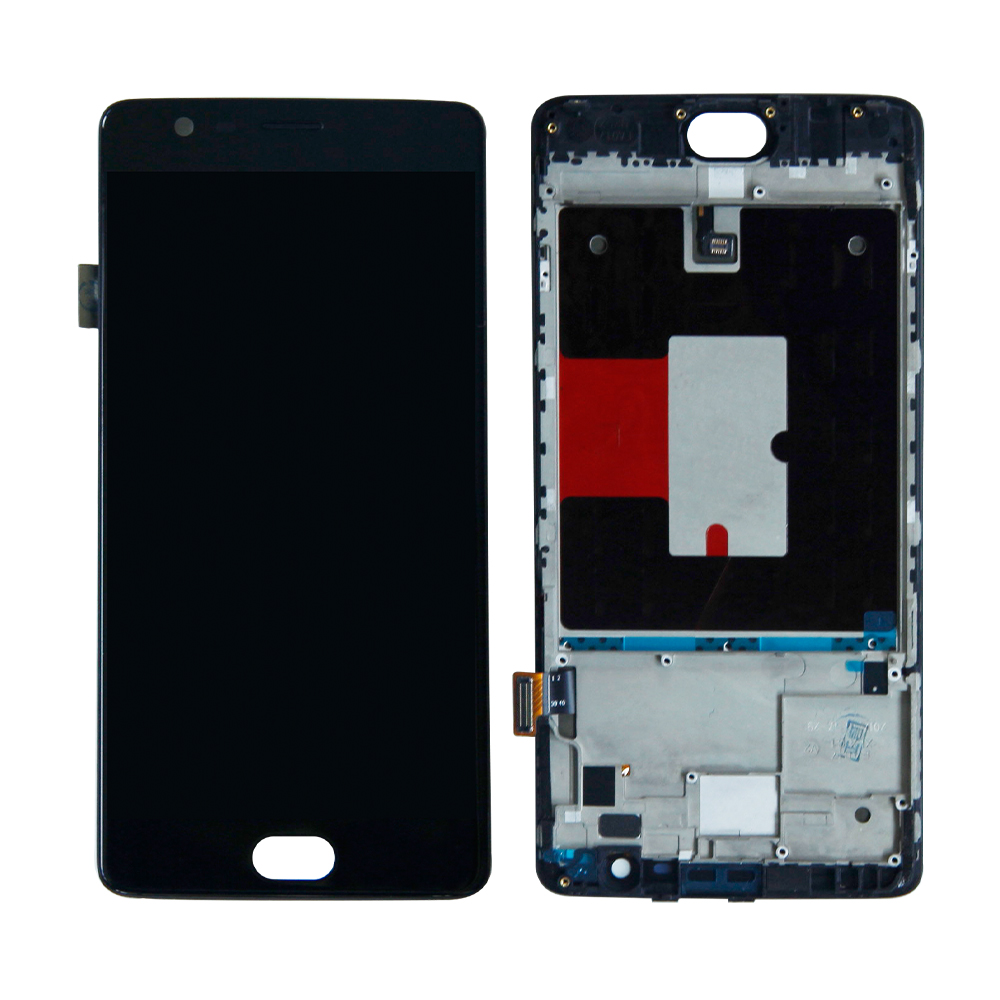 5.5'' Original Display For Oneplus 3T LCD Display Touch Screen with Frame for OnePlus 3 T 3T A3000 Display Replacement