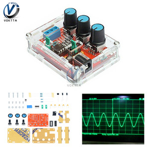 DIY XR2206 Function Generator Kit Square Wave Signal Generator Module 1Hz-1MHz Adjustable Frequency Pulse With Cover Box Protect(China)