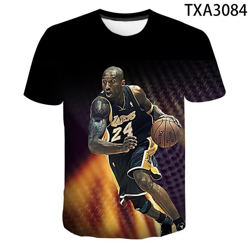 3D Printed Kobe Bryant Men Women Children T-shirt Harajuku Fashion Streetwear Tops Basketball Player Black Mamba Casual Tees