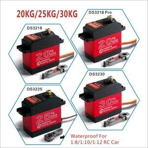 Image 1 - 1 X Wasserdichte servo 20KG 25KG 30 KG und hohe geschwindigkeit metall getriebe digital servo baja servo für 1/8 1/10 skala RC Autos