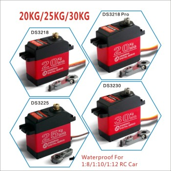 1 X Waterproof servo 20KG 25KG 30 KG and high speed metal gear digital servo baja servo for 1/8 1/10 Scale RC Cars