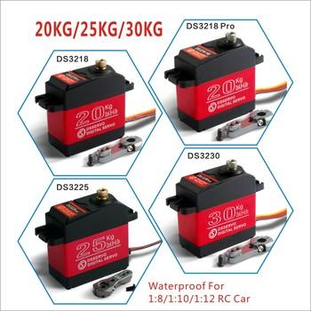 1 X wodoodporny serwo 20KG 25KG 30 KG i szybki serwomechanizm cyfrowy z metalowymi zębatkami serwo baja dla 1 8 1 10 skala RC Cars tanie i dobre opinie Samochody Pojazdów i zabawki zdalnie sterowane Dsservo Kompletacja CN (pochodzenie) Kv1100 DS3218 updat DS3218 DS3225 DS3230