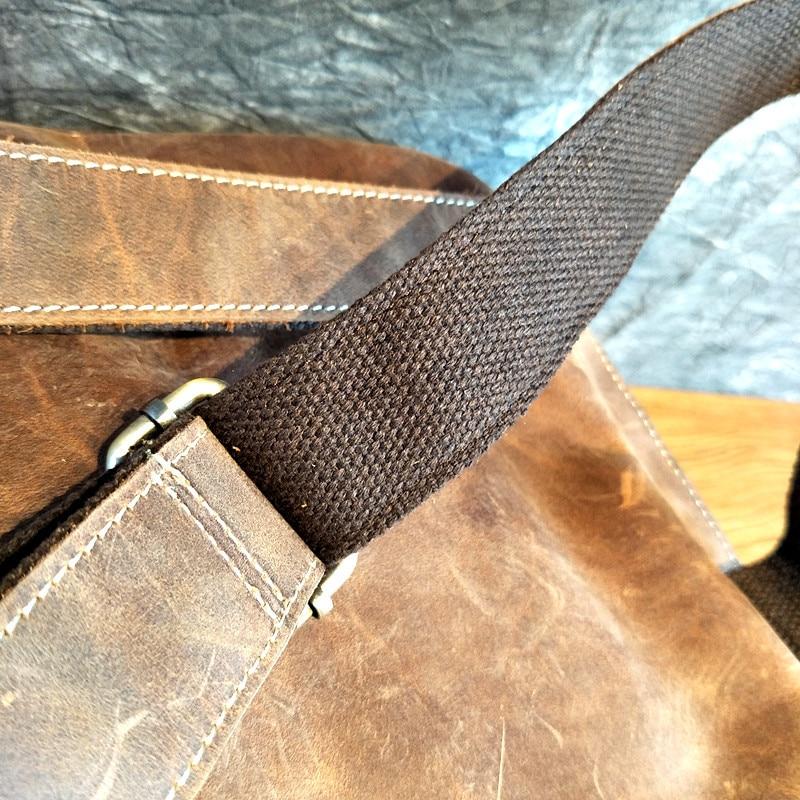couro camada superior de couro genuíno portátil