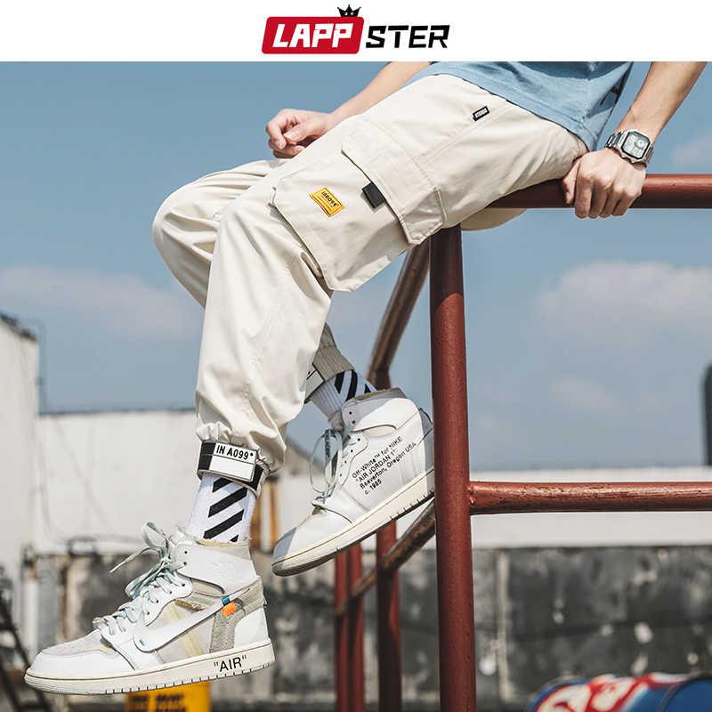 LAPPSTER Mens streetwear Joggers Celana 2019 Mens Hip Hop Hitam Melacak Celana Pria Fashions Korea Harajuku Pockets Sweatpants 5XL