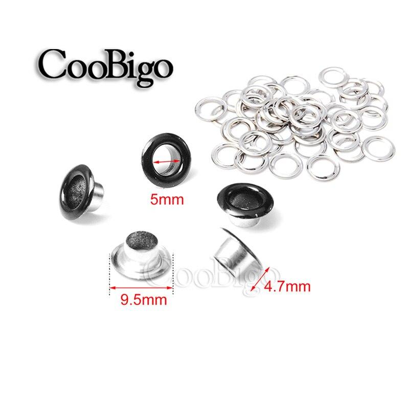 para scrapbooking 100 unidades ropa manualidades 5 colores ojales met/álicos color mixto accesorios cuero