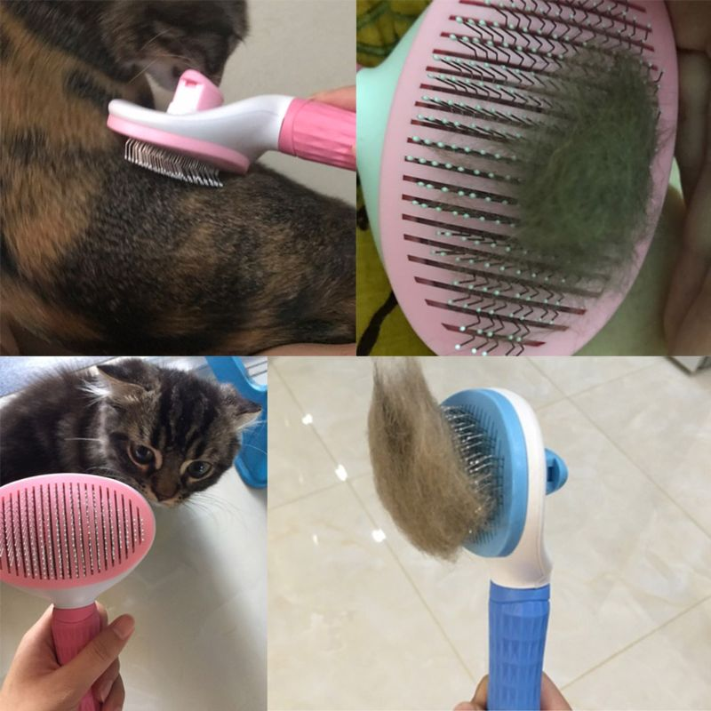 Купить с кэшбэком Pet Dogs Cats Comb Needle Hair Grooming Removal Dogs Cleaning Brush Massage Pet Comb