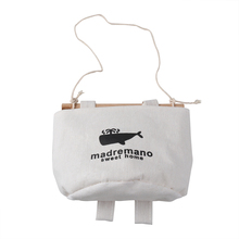 Bolsa de almacenamiento para colgar en la pared de diseño vintage de algodón y lino organizador de artículos diversos para maquillaje y decoración del hogar bolsas de almacenamiento de ballena A30