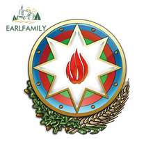 EARLFAMILY 13cm For Azerbaijan Coat Of Arms Heraldry DIY Motorcycle Car Stickers Waterproof Decal Windows Decoration