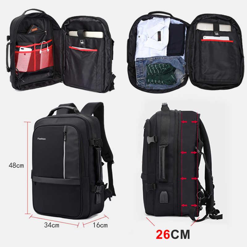 Frauen Männer Rucksack Anti Theft 17 Zoll Laptop Rucksäcke USB Ladegerät 15,6 Notebook Business Taschen Männlichen Wasserdichte Reise Bagpack
