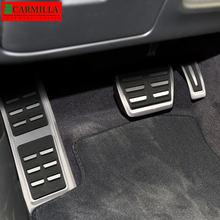 Coche Carmilla pedales aptos para Audi A4 B8 A6 A7 A8 S4 RS4 A5 S5 RS5 8T Q5 SQ5 8R de freno de combustible de reposapiés Pedal Auto Accesorios