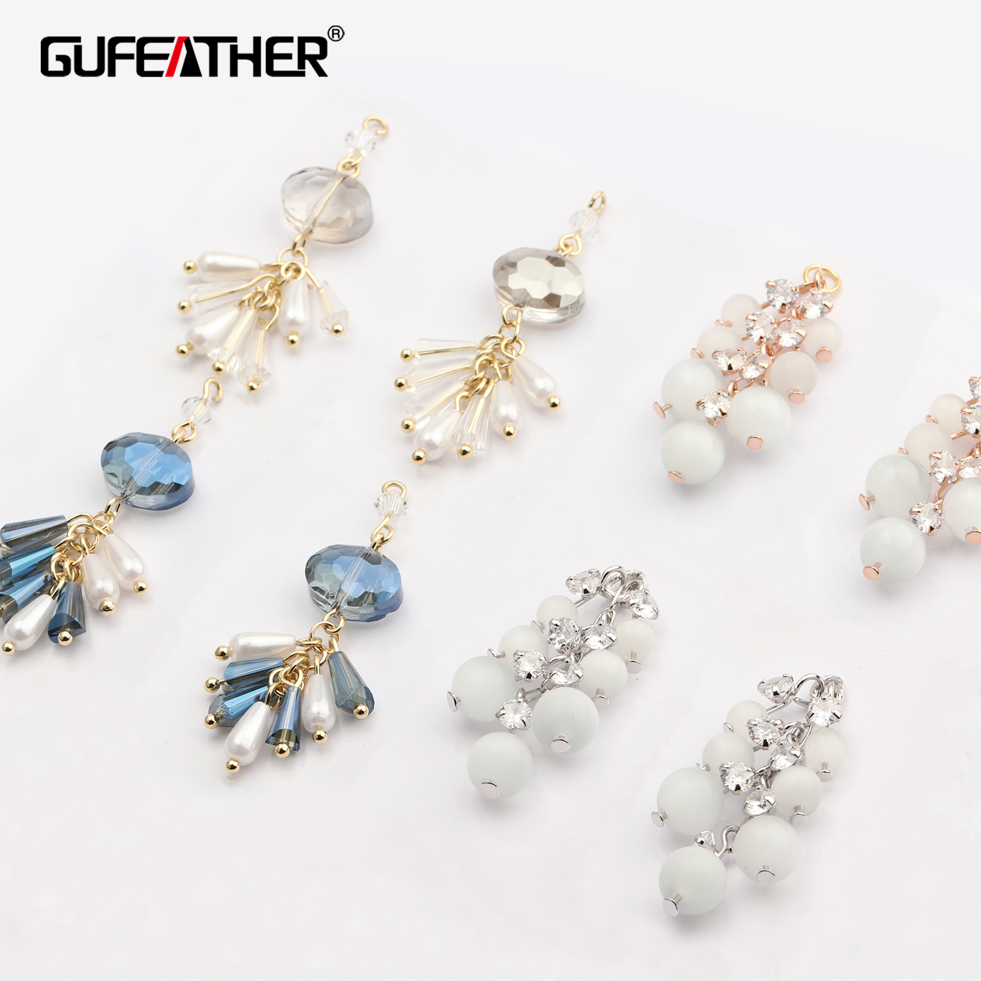 GUFEATHER M633,jewelry Making,ear Chain,diy Beads Pendant,stable Quality,jewelry Findings,hand Made,diy Earrings,4pcs/lot