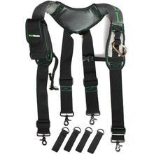 Heavy Duty Work Tool Belt Bretels Mannen Suspender Padded Braces Suspenders Men For Reducing Waist Weight Strap Tooling Pouch