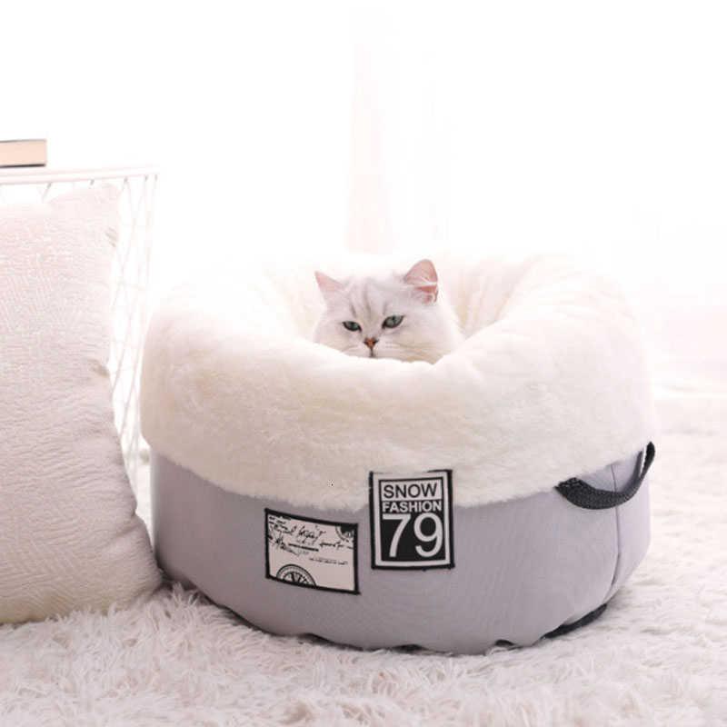 RFWCAK 애완 동물 고양이 개 침대 온난 개집 소프트 슬리핑 백 매트 애완 동물 쿠션 커터 동굴 강아지 둥지 개집 Katten Mand 애완 동물 용품