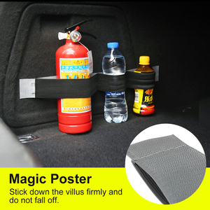 Image 4 - Organizer per bagagliaio per Auto borsa di fissaggio per cintura nastri magici accessori per Auto per Auto stivaggio riordino Car styling Organizer per Auto